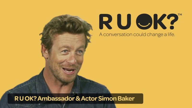 Actor Simon Baker on the importance of listening (R U OK)