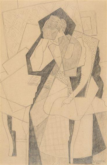 Читающая женщина 1915 Джино Северини, (итал. Gino Severini; 1883 1966)