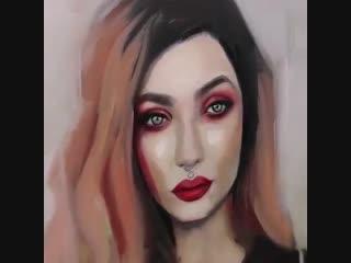 Портрет маслом в стиле АРТ 1.