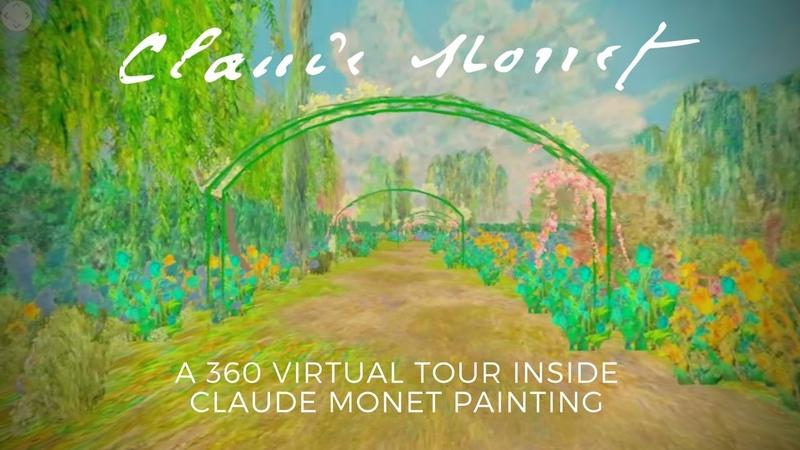 CLAUDE MONET 360video - A WALK INSIDE Bridge over a Pond of Water Lilies
