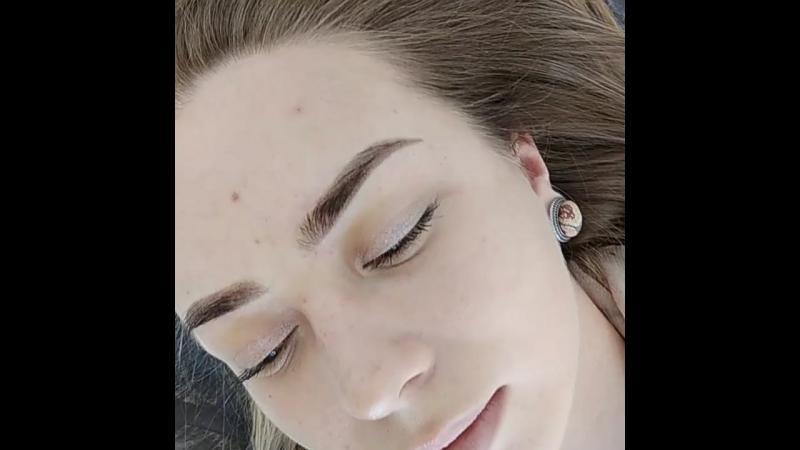 🔱Перманентный макияж бровей сразу после процедуры 🦋Мастер Ася