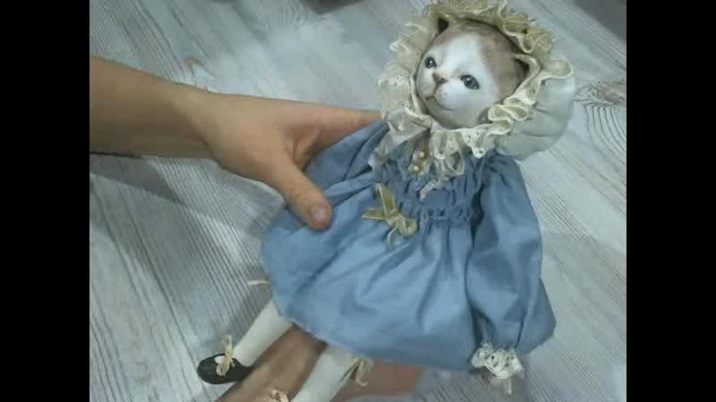 Анонс курса по созданию подвижной куклы Котенок. Глумова Альбина.