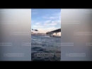 Лихач пролетел на вертолете под опорой ЗСД в Санкт-Петербурге