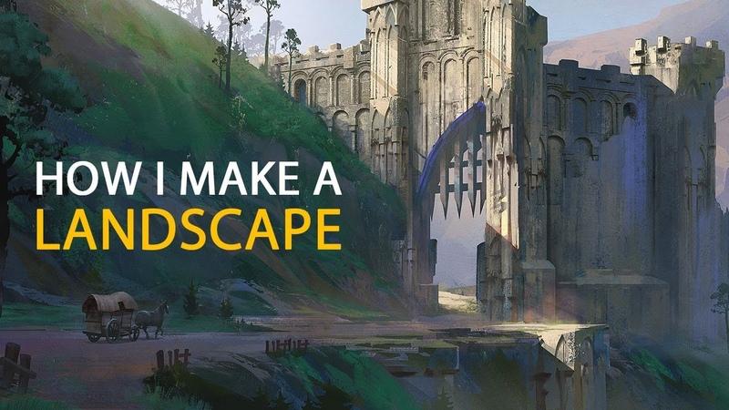 How I Make A Landscape: Concept Art Process
