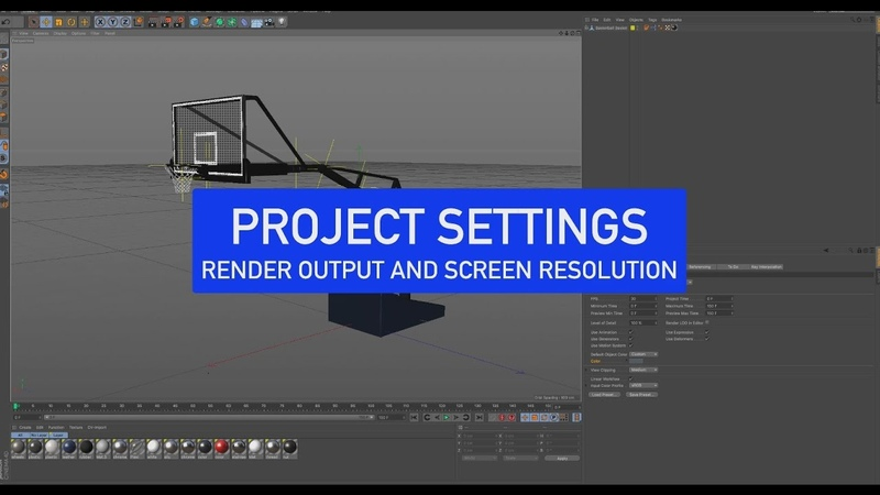 CINEMA 4D Back to Basics Project Resolution Settings