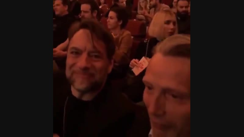 Mads with Kenneth Willardt at the Polar premiere src