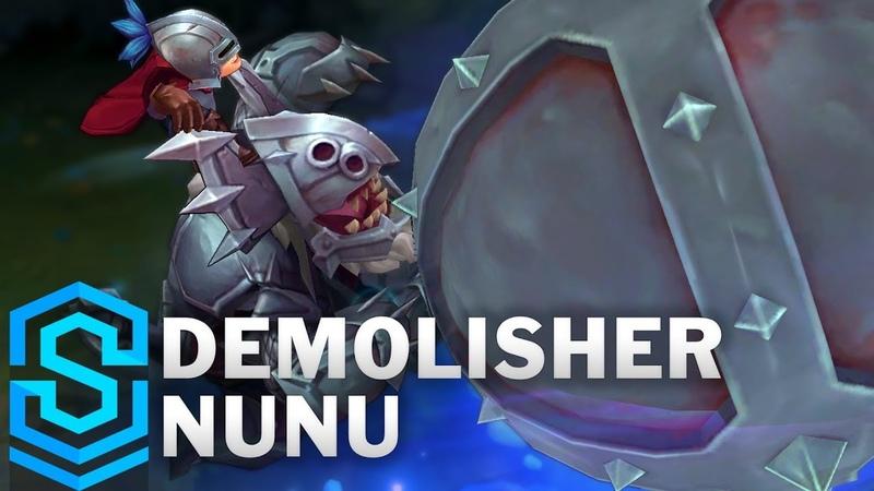 Demolisher Nunu 2018 Skin Spotlight - Pre-Release - League of Legends