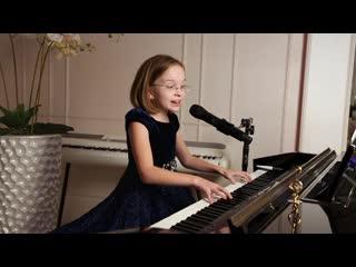 Демис руссос - воспоминания (сувенир) - piano cover виктория старикова - 10 лет