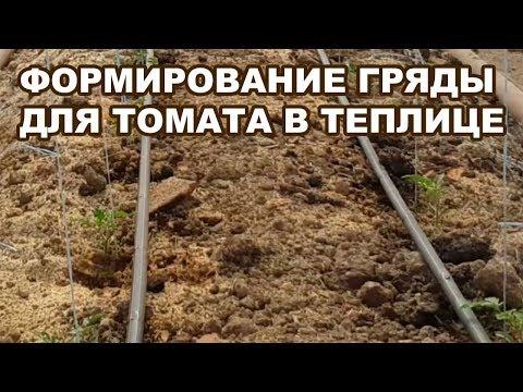 Формирование гряды для томата в теплице. Опилочно-навозная смесь (13-07-2018)