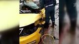 Крупное ДТП наюго-западе Москвы грузовик спеском врезался втакси наЛитовском бульваре. Новости. Первый канал