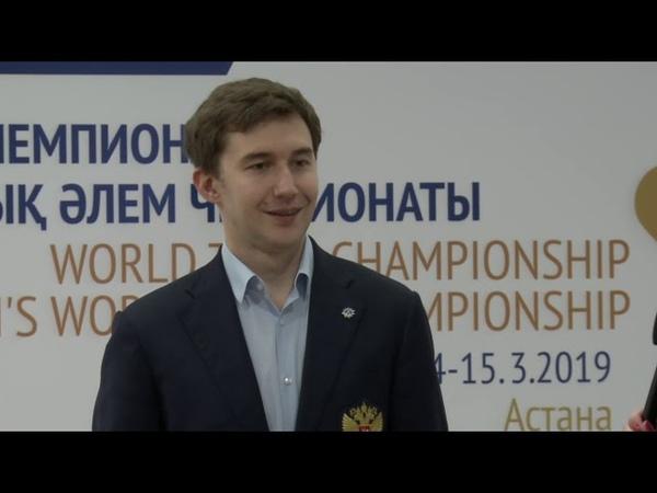 WTCC 2019, day 8 Interview with Sergey Karjakin