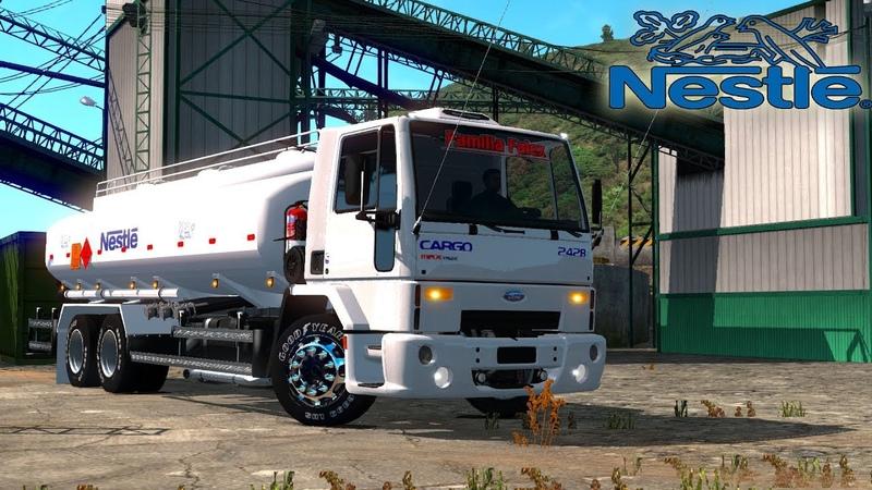Carro Tanque De Nestle!! | Ford Cargo Rumbo A Yumbo Colombia | Euro Truck Simulator 2