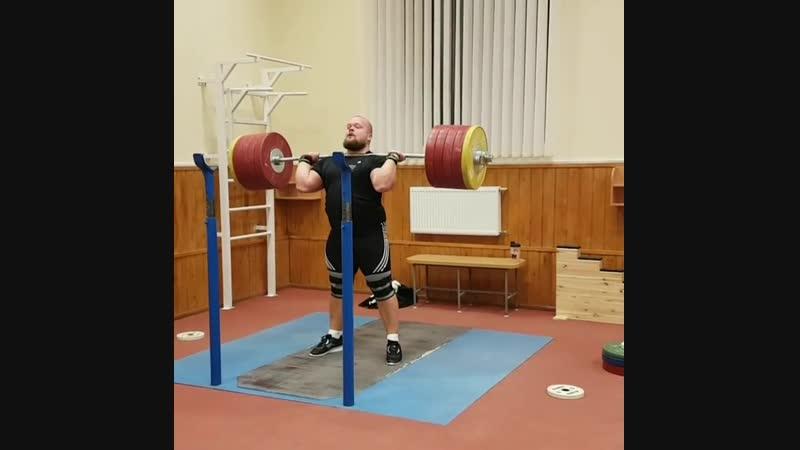 Mart Seim - толчок 255 килограмм