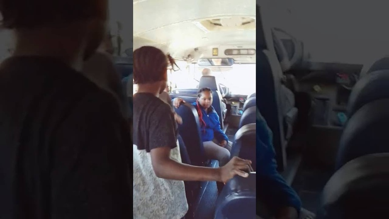 School bus fake fight