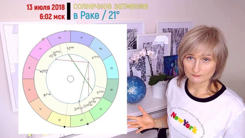 Солнечное Затмение 13 июля 2018 в Раке - глоток нового/ прогноз от Olga