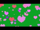 Hearts Pink colors on Green Screen Green Screen Chroma Key Effects AAE