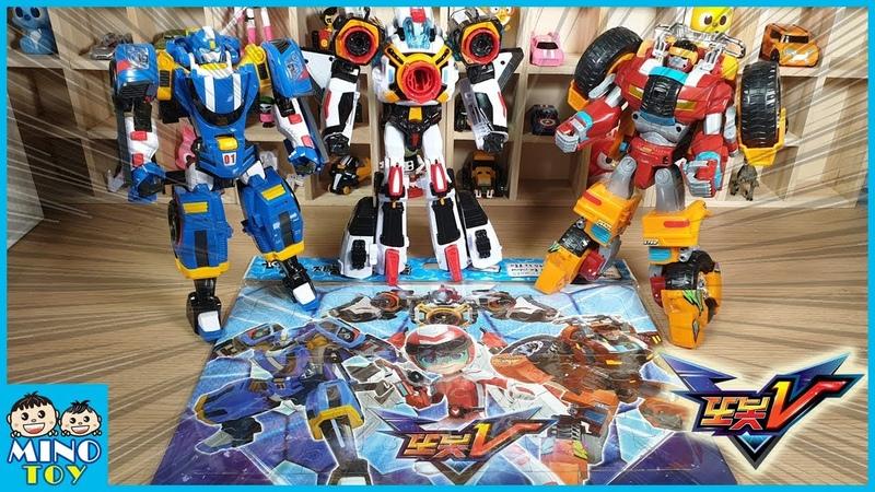 또봇V 스피드 몬스터 로켓 퍼즐놀이 로봇 변신놀이 Tobot V Puzzle Play