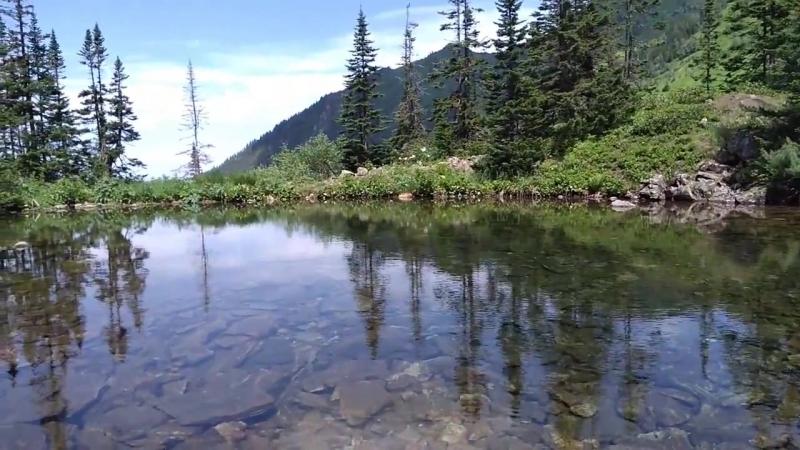 Озерно водопадный фрирайд на Мамае