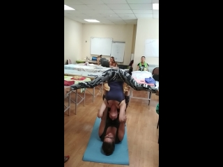 Акробатика в перерыве. Семинар по японскому массажу лица. Август 2018