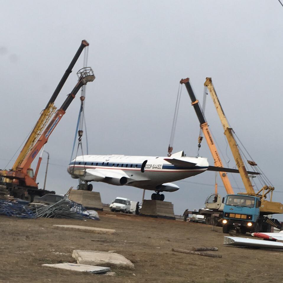 В Кимрах перенесли памятник самолету Ту-124, а дом А.Н. Туполева сносить пока не будут