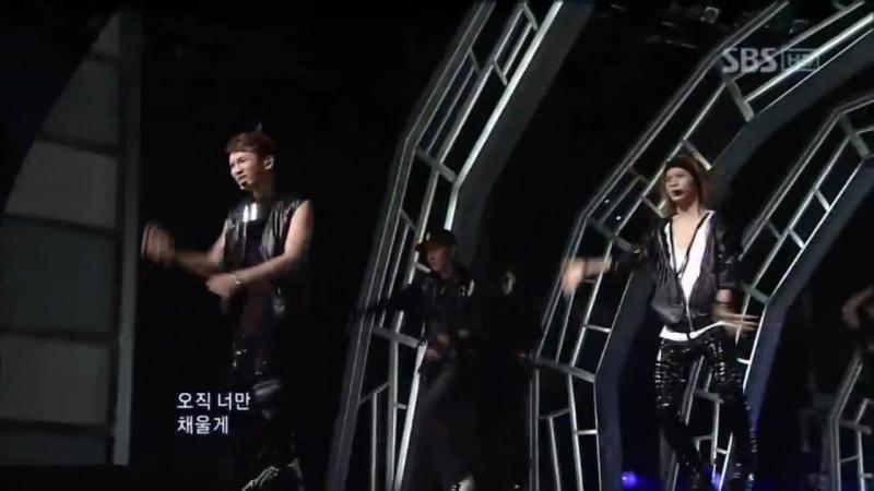 100725 SHINee - UpDown Lucifer (샤이니 - 업앤다운 루시퍼) @ SBS Inkigayo 인기가요
