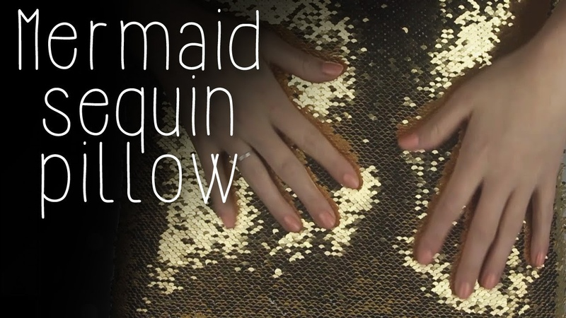 ASMR Mermaid sequin pillow (🎧 no talking, tracing, hand movements, fabric sounds)