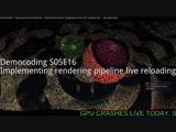 [RU/EN] Democoding S05E16: live reloading rendering pipeline
