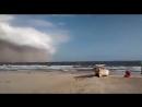 Приближение пыльной бури к Сонора, Мексика - 29.08.2018