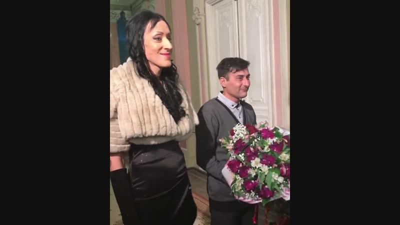 Аида Грифаль на съёмках финальной серии 4