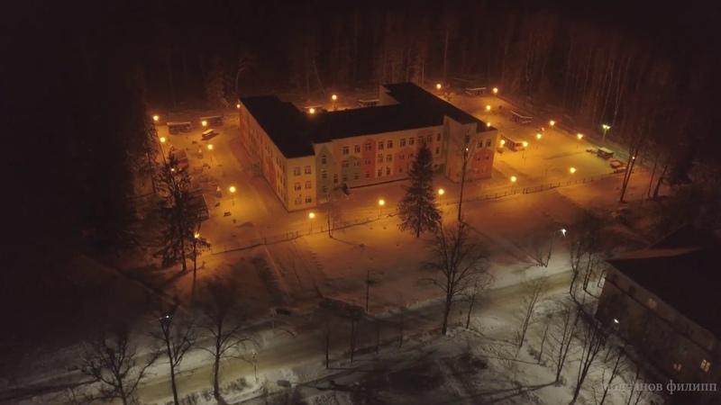 зимние лучки ночью