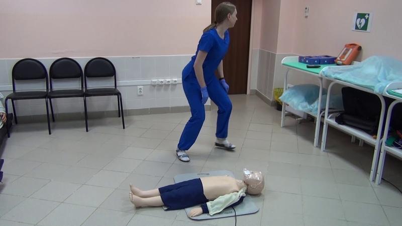 ПСА, Педиатрия, Сценарий №3 Базовая сердечно-легочная реанимация у детей