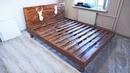 Кровать своими руками из дерева бруски и мебельный щит