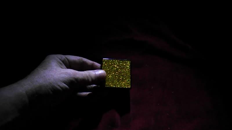 Плитка оргалит лакированный; золотые блёстки