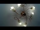 Белый матовый и глянцевый натяжной потолок 2 комнаты Карталинский р н с Рассветный