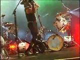 Peter Criss Smashing His Drum Kit