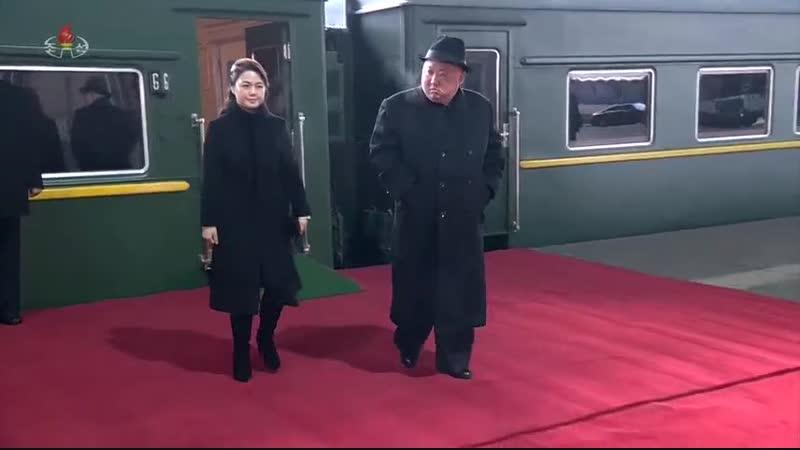 우리 당과 국가, 군대의 최고령도자 김정은동지께서 중화인민공화국에 대한 방문을 마치시고 조국에 돌아오시였다