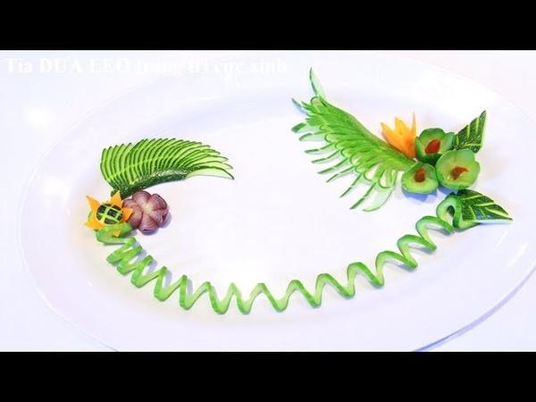 Tỉa Hoa Từ Dưa Leo - 5 Mẫu hoa cắt tỉa đơn giản từ dưa leo