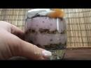 Малиновый мусс с абрикосами и взбитыми сливками