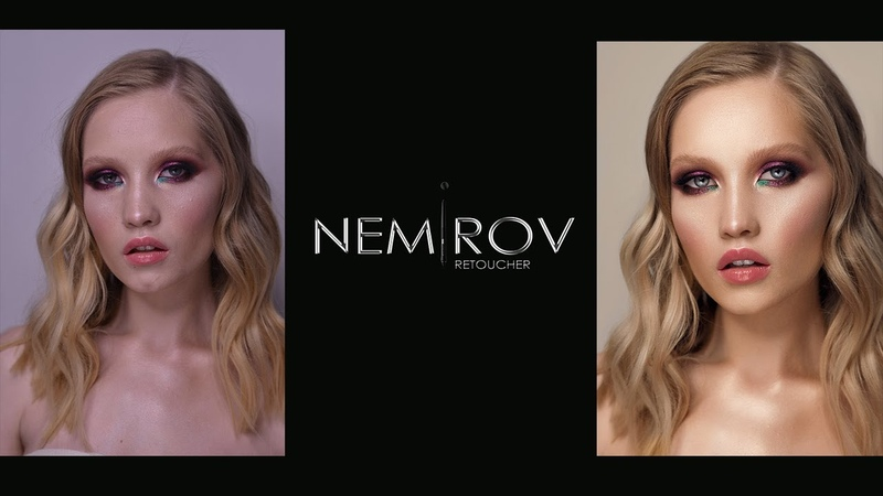 Retouch beauty Portrait (Dodge Burn, Frequency Separation, Skulpting, Glowing Skin) » Freewka.com - Смотреть онлайн в хорощем качестве