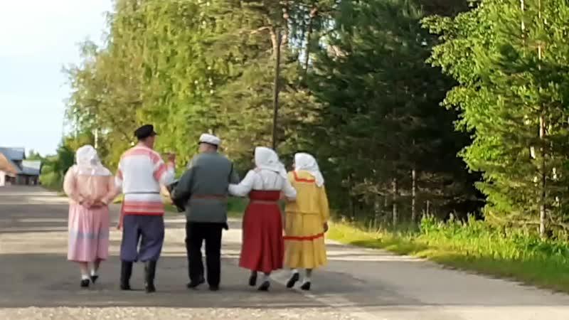 Исполнители из д. Кривяцкое Никольский р-н. Проходка по деревне.