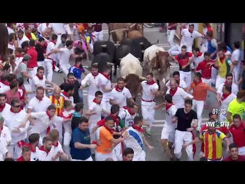 Cuarto encierro San Fermín 2018 ( 4º Encierro) 10 Julio ULTRA HD