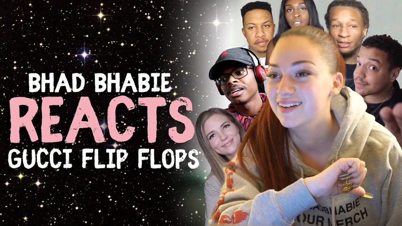 Danielle Bregoli Reacts To BHAD BHABIE Gucci Flip Flops Roast and Reaction Vids