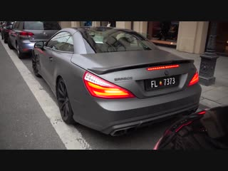 BRABUS SL 800 Roadster - Start Up Brutal Accelerations