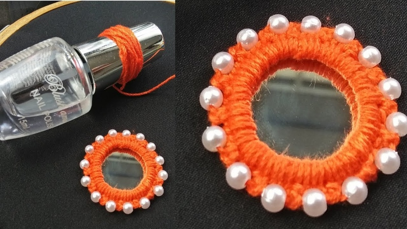Hand Embroidery Amazing Trick Mirror Embroidery Sewing Hack Easy Mirror Work Embroidery Designs