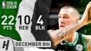 Daniel Theis Full Highlights Celtics vs Bulls 2018.12.08 - 22 Pts, 5 Ast, 10 Reb, 4 Blocks!