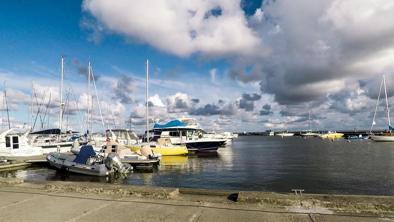 Nida, Lithuania. Walk Through the Town Centre and the Port