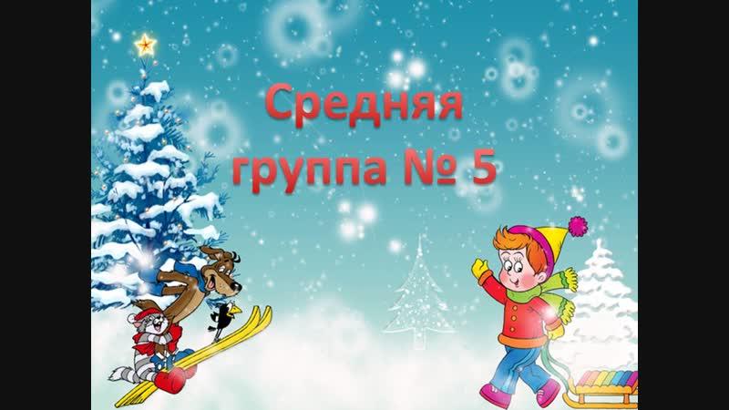 Зимняя прогулка Средняя группа № 5