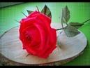 РОЗА из БУМАГИ БУКЕТЫ ИЗ КОНФЕТ FLOR DE PAPEL CREPE Cómo hacer Rosa
