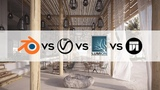 Guess the Best Renderer? Vray vs Lumion vs Twinmotion vs Blender Cycles