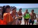 3 смена 2018 игра на пляже Fanta Обнять девушку в розвом купальнике
